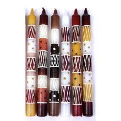 Set of 4 Hand-painted Neutral Candle (South Africa)