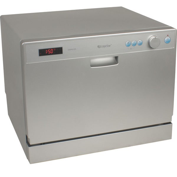 EdgeStar 6 Place Setting Silver Countertop Dishwasher
