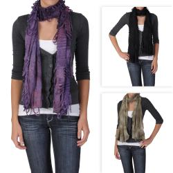 Journee Collection Women's Distressed Lightweight Scarf