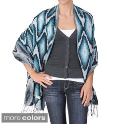 Adi Designs Women's Diamond Print Fringed Pashmina Shawl