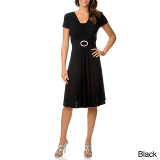 R & M Richards Women's Buckle Dress
