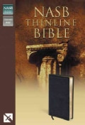 New American Standard Bible Thinline: Black Bonded Leather (Paperback)