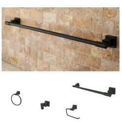 Oil-Rubbed Bronze Four-Piece Standard Bathroom Accessory Set