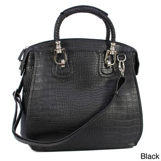 Dasein Croco Embossed Satchel
