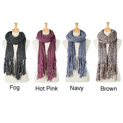 Women's Knit Fringe Scarf