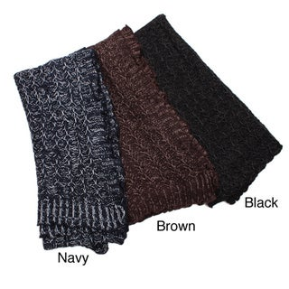 Two-tone Knit Scarf