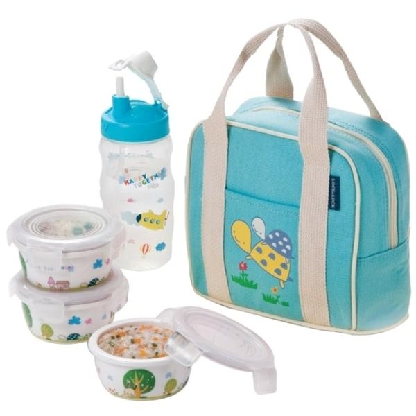 Silby Ceramic Baby Lunch Box Set, Blue