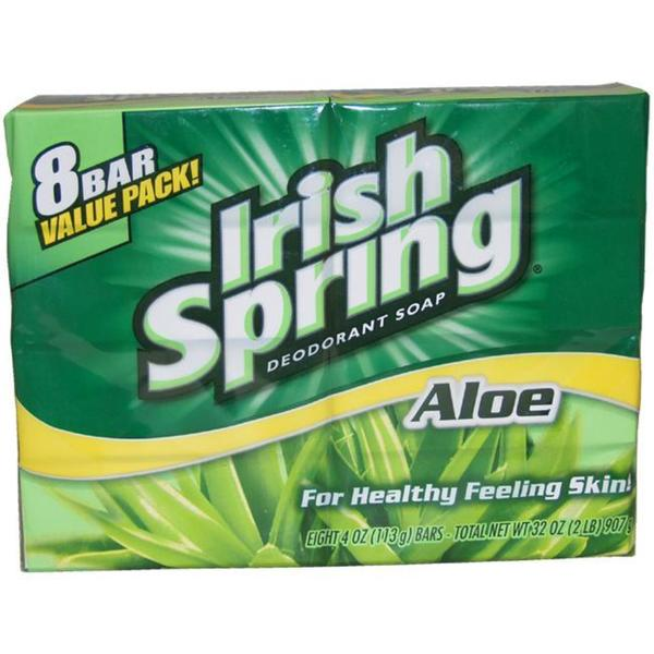 Irish Spring 4-ounce Aloe Deodorant Soap (Pack of 8)
