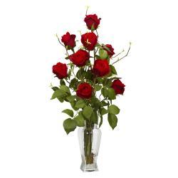 Rosebud Silk Flower Arrangement