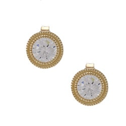 La Preciosa Goldplated Silver Cubic Zirconia Circle Earrings