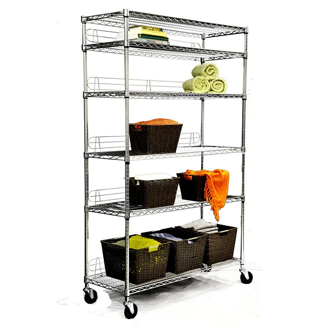 Trinity Home Entertainment TRINITY NSF 6-tier Chrome Wire Shelving Rack at Sears.com