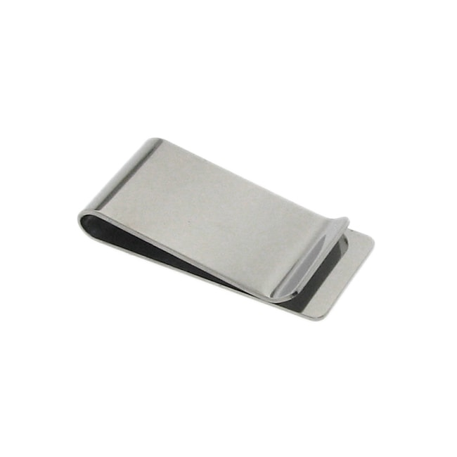 Stainless Steel Men's Polished Money Clip