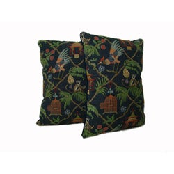 Multicolor Jungle Throw Pillows (Set of 2)