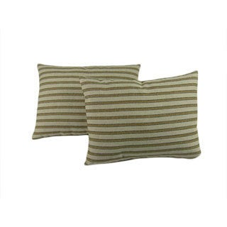 Gardening Stripe Throw Pillows (Set of 2)