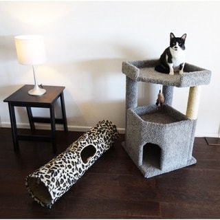 New Cat Condos Corner Roost Cat Tree with Kitty Cruiser