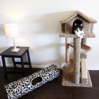 New Cat Condos Fully Assembled Large Pagoda Cat Tree/Condo with Kitty Cruiser