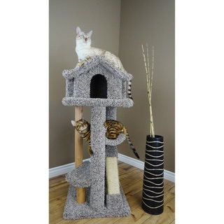 "New Cat Condos 46"" Large Pagoda Cat Tree"