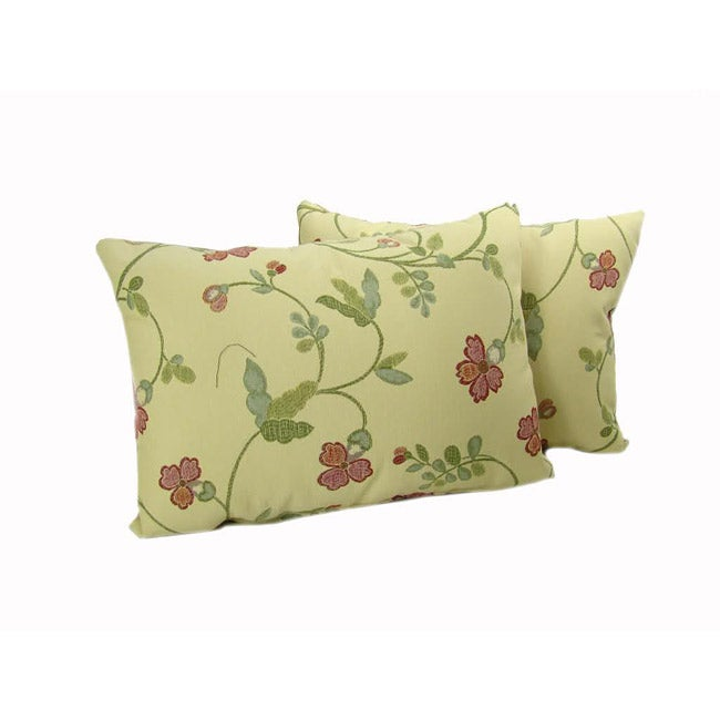 Multicolor Flowers Throw Pillows (Set of 2)