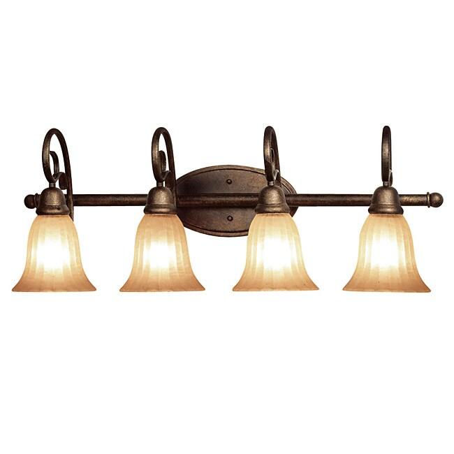 Http Www Overstock Com Home Garden Woodbridge Lighting Clifton 4 Light Marbled Bronze Bath Bar 6265085 Product Html