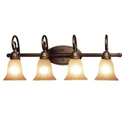 Woodbridge Lighting Clifton 4-light Marbled Bronze Bath Bar