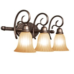 Woodbridge Lighting Clifton 3-light Marbled Bronze Bath Bar