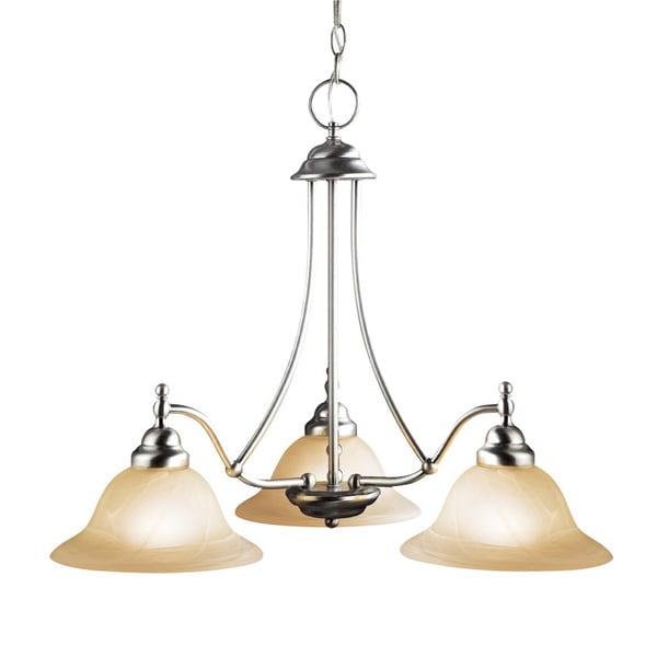 Woodbridge Lighting Anson 3-light Satin Nickel Chandelier