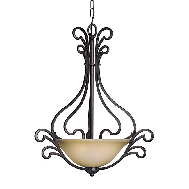 Woodbridge Lighting Palermo 3-light Bordeaux Pendant