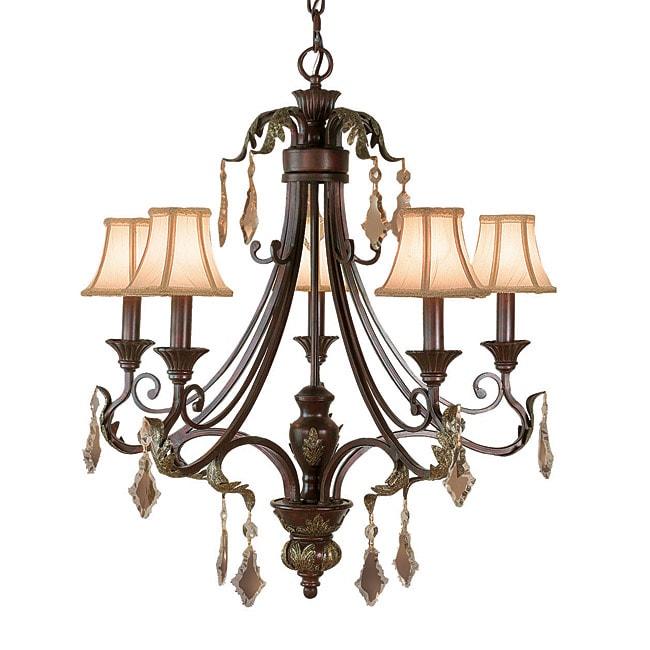 Woodbridge Lighting Oakhurst 5-light Bordeaux Chandelier