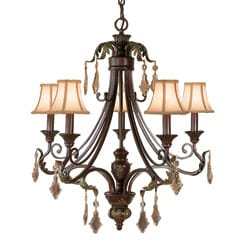 Woodbridge Lighting Oakhurst 5-light Bordeaux Chandelier