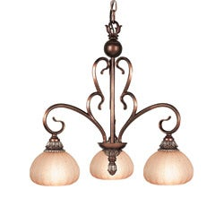 Woodbridge Lighting Liezel 3-light Copper Glow Chandelier