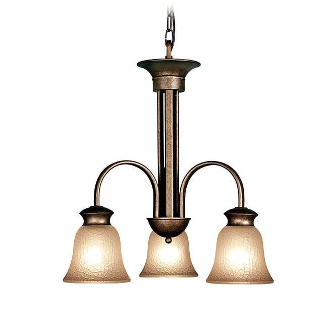 Woodbridge Lighting Dresden 3-light Marbled Bronze Chandelier