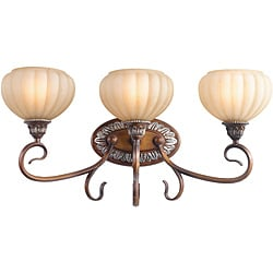 Woodbridge Lighting Liezel 3-light Copper Glow Bath Bar