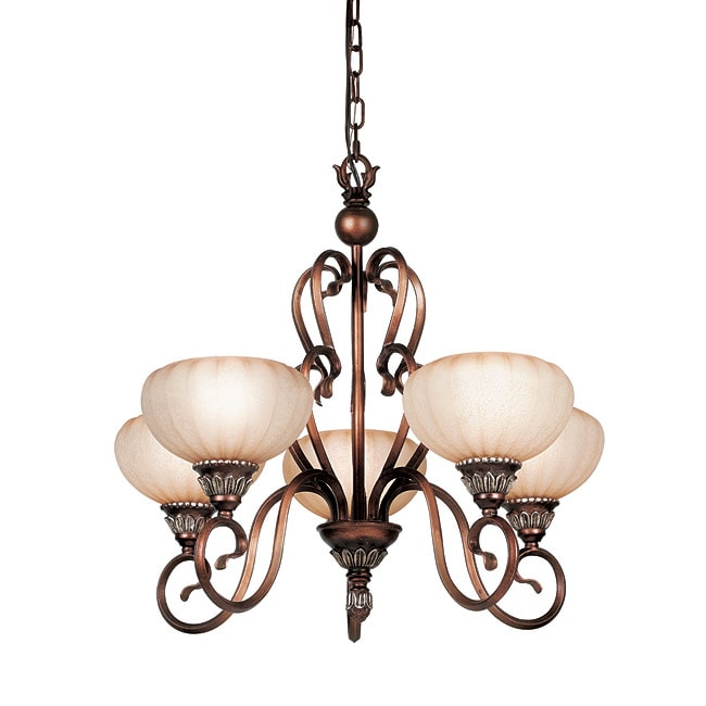 Woodbridge Lighting Liezel 5-light Copper Glow Chandelier