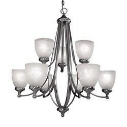 Woodbridge Lighting Kenshaw 9-light Satin Nickel Chandelier
