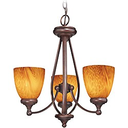 Woodbridge Lighting Kenshaw 3-light Bordeaux Chandelier