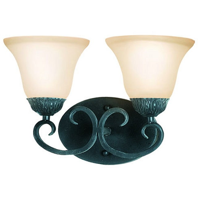 Woodbridge Lighting Jamestown 2-light Textured Black Bath Sconce