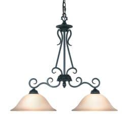 Woodbridge Lighting Jamestown 2-light Textured Black Island Light Fixture