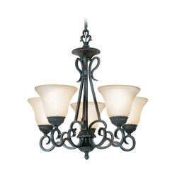 Woodbridge Lighting Jamestown 5-light Textured Black Chandelier