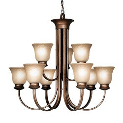 Woodbridge Lighting Dresden 9-light Marbled Bronze Chandelier