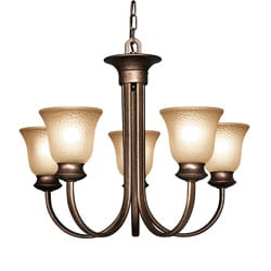 Woodbridge Lighting Dresden 5-light Marbled Bronze Chandelier