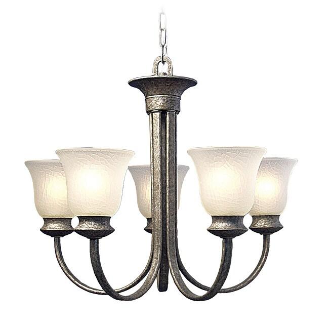 Woodbridge Lighting Dresden 5-light Greystone Chandelier