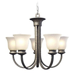 Woodbridge Lighting Dresden 5-light Greystone Chandelier
