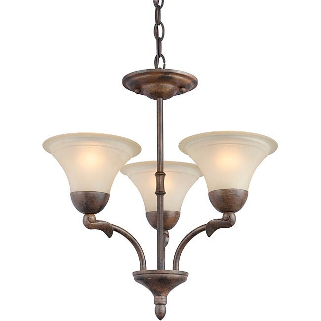 Woodbridge Lighting Darien 3-light Royal Bronze Chandelier