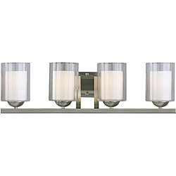 Woodbridge Lighting Cosmo 4-light Satin Nickel Bath Bar