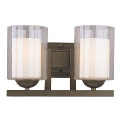 Woodbridge Lighting Cosmo 2-light Bronze Bath Sconce