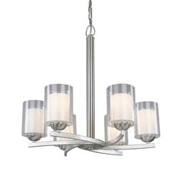 Woodbridge Lighting Cosmo 6-light Satin Nickel Chandelier