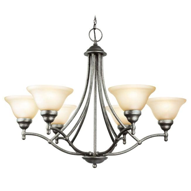 Woodbridge Lighting Anson 6-light Greystone Chandelier