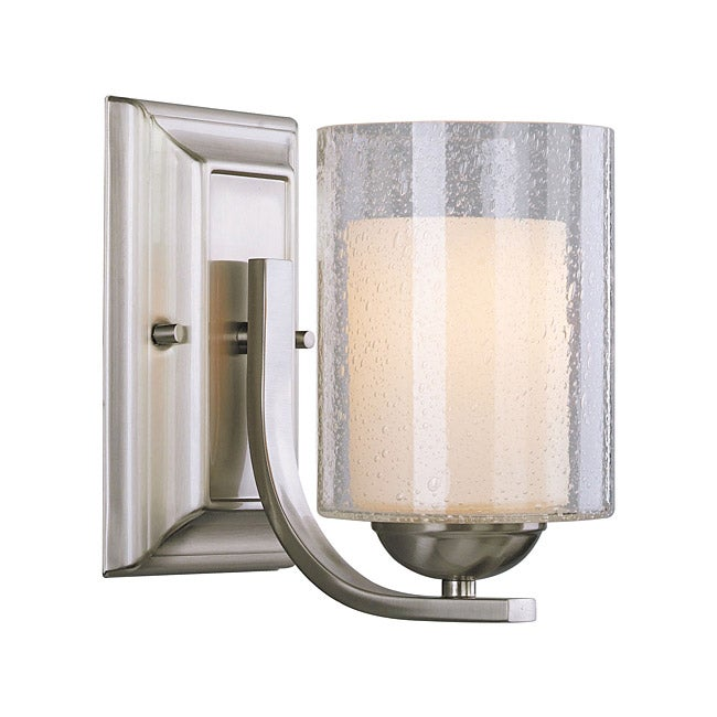 woodbridge lighting cosmo 1 light satin nickel bath sconce overstock