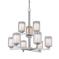 Woodbridge Lighting Cosmo 9-light Satin Nickel Chandelier