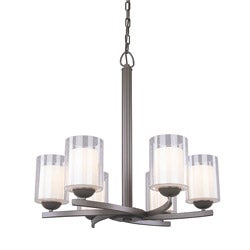Woodbridge Lighting Cosmo 6-light Bronze Chandelier